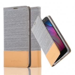 Cadorabo Hülle für Motorola MOTO G5S in HELL GRAU BRAUN - Handyhülle mit Magnetverschluss, Standfunktion und Kartenfach - Case Cover Schutzhülle Etui Tasche Book Klapp Style