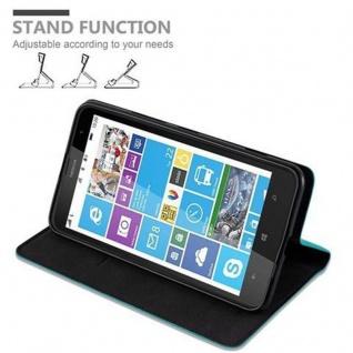 Cadorabo Hülle für Nokia Lumia 1320 in PETROL TÜRKIS - Handyhülle mit Magnetverschluss, Standfunktion und Kartenfach - Case Cover Schutzhülle Etui Tasche Book Klapp Style - Vorschau 5