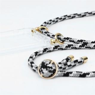 Cadorabo Handy Kette für Nokia 1 PLUS in SCHWARZ CAMOUFLAGE Silikon Necklace Umhänge Hülle mit Gold Ringen, Kordel Band Schnur und abnehmbarem Etui Schutzhülle - Vorschau 3
