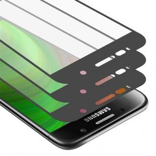 Cadorabo 3x Vollbild Panzer Folie für Samsung Galaxy S6 - Schutzfolie in TRANSPARENT mit SCHWARZ - 3er Pack Gehärtetes (Tempered) Display-Schutzglas in 9H Härte mit 3D Touch