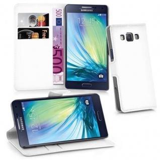 Cadorabo Hülle für Samsung Galaxy A3 2015 in ARKTIS WEIß - Handyhülle mit Magnetverschluss, Standfunktion und Kartenfach - Case Cover Schutzhülle Etui Tasche Book Klapp Style