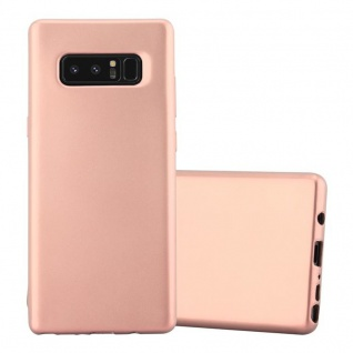 Cadorabo Hülle für Samsung Galaxy NOTE 8 in METALLIC ROSE GOLD - Handyhülle aus flexiblem TPU Silikon - Silikonhülle Schutzhülle Ultra Slim Soft Back Cover Case Bumper