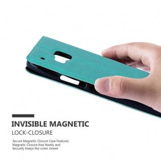 Cadorabo Hülle für HTC One M9 in MINT TÜRKIS ? Handyhülle mit Magnetverschluss, Standfunktion und 2 Sichtfenstern ? Case Cover Schutzhülle Etui Tasche Book Klapp Style - Vorschau 5