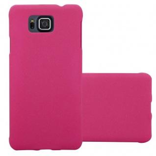 Cadorabo Hülle für Samsung Galaxy ALPHA in FROSTY PINK Hardcase Handyhülle aus Plastik gegen Kratzer und Stöße Schutzhülle Bumper Ultra Slim Back Case Hard Cover