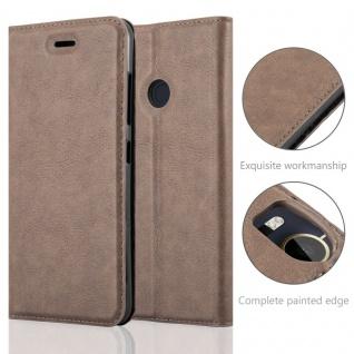 Cadorabo Hülle für HTC Desire 10 PRO in KAFFEE BRAUN - Handyhülle mit Magnetverschluss, Standfunktion und Kartenfach - Case Cover Schutzhülle Etui Tasche Book Klapp Style - Vorschau 2