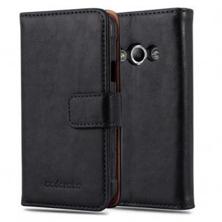 Cadorabo Hülle für Samsung Galaxy Xcover 3 in GRAPHIT SCHWARZ ? Handyhülle mit Magnetverschluss, Standfunktion und Kartenfach ? Case Cover Schutzhülle Etui Tasche Book Klapp Style