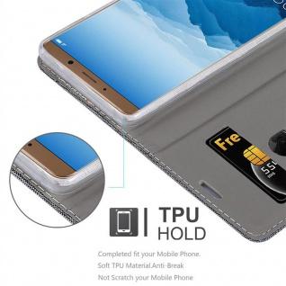 Cadorabo Hülle für Huawei MATE 10 in GRAU SCHWARZ - Handyhülle mit Magnetverschluss, Standfunktion und Kartenfach - Case Cover Schutzhülle Etui Tasche Book Klapp Style - Vorschau 2