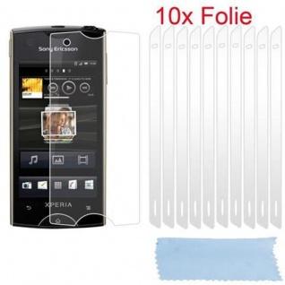 Cadorabo Displayschutzfolien für Sony Xperia RAY - Schutzfolien in HIGH CLEAR ? 10 Stück hochtransparenter Schutzfolien gegen Staub, Schmutz und Kratzer