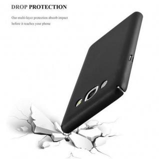 Cadorabo Hülle für Samsung Galaxy J5 2016 in METALL SCHWARZ - Hardcase Handyhülle aus Plastik gegen Kratzer und Stöße - Schutzhülle Bumper Ultra Slim Back Case Hard Cover - Vorschau 5