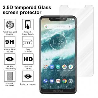 Cadorabo Panzer Folie für Motorola MOTO ONE - Schutzfolie in KRISTALL KLAR - Gehärtetes (Tempered) Display-Schutzglas in 9H Härte mit 3D Touch Kompatibilität - Vorschau 4