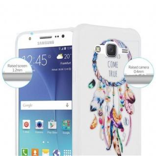 Cadorabo Hülle für Samsung Galaxy J5 2015 - Hülle im Design TRAUMFÄNGER 'Dreams come true' ? Handyhülle aus TPU Silikon mit Aufdruck - Silikonhülle Schutzhülle Ultra Slim Soft Back Cover Case Bumper - Vorschau 3
