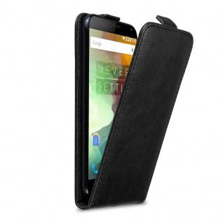 Cadorabo Hülle für OnePlus 2 in NACHT SCHWARZ - Handyhülle im Flip Design mit Magnetverschluss - Case Cover Schutzhülle Etui Tasche Book Klapp Style