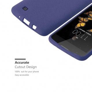 Cadorabo Hülle für LG K8 2016 in FROST DUNKEL BLAU - Handyhülle aus flexiblem TPU Silikon - Silikonhülle Schutzhülle Ultra Slim Soft Back Cover Case Bumper - Vorschau 3
