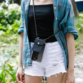 Cadorabo Handy Kette für Samsung Galaxy J6 2018 in CAMOUFLAGE ? Silikon Necklace Umhänge Hülle mit Gold Ringen, Kordel Band Schnur und abnehmbarem Etui ? Schutzhülle - Vorschau 4