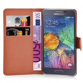 Cadorabo Hülle für Samsung Galaxy A7 2015 in SCHOKO BRAUN - Handyhülle mit Magnetverschluss, Standfunktion und Kartenfach - Case Cover Schutzhülle Etui Tasche Book Klapp Style - Vorschau 2