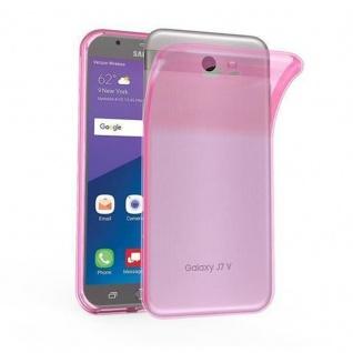 Cadorabo Hülle für Samsung Galaxy J7 2017 US Version in TRANSPARENT PINK - Handyhülle aus flexiblem TPU Silikon - Silikonhülle Schutzhülle Ultra Slim Soft Back Cover Case Bumper