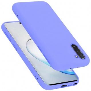 Cadorabo Hülle für Samsung Galaxy NOTE 10 in LIQUID HELL LILA Handyhülle aus flexiblem TPU Silikon Silikonhülle Schutzhülle Ultra Slim Soft Back Cover Case Bumper