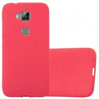Cadorabo Hülle für Huawei G7 PLUS / G8 / GX8 in FROST ROT - Handyhülle aus flexiblem TPU Silikon - Silikonhülle Schutzhülle Ultra Slim Soft Back Cover Case Bumper