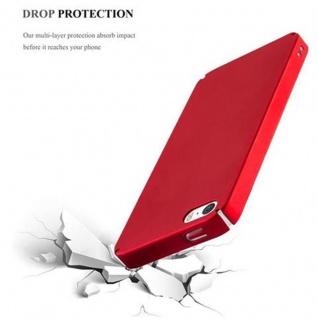 Cadorabo Hülle für Apple iPhone 5 / iPhone 5S / iPhone SE in METALL ROT - Hardcase Handyhülle aus Plastik gegen Kratzer und Stöße - Schutzhülle Bumper Ultra Slim Back Case Hard Cover - Vorschau 5