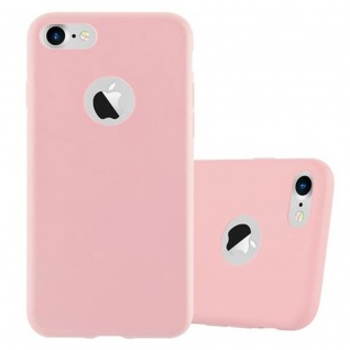 Cadorabo Hülle für Apple iPhone 7 / iPhone 7S / iPhone 8 in CANDY ROSA - Handyhülle aus flexiblem TPU Silikon - Silikonhülle Schutzhülle Ultra Slim Soft Back Cover Case Bumper