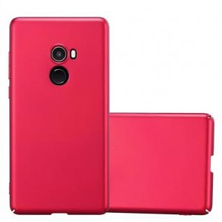 Cadorabo Hülle für Xiaomi Mi Mix 2 in METALL ROT Hardcase Handyhülle aus Plastik gegen Kratzer und Stöße Schutzhülle Bumper Ultra Slim Back Case Hard Cover