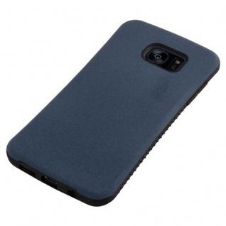 Cadorabo Hülle für Samsung Galaxy S7 EDGE - Hülle in MEERES BLAU - Small Waist Handyhülle mit rutschfestem Gummi-Rücken - Hard Case TPU Silikon Schutzhülle - Vorschau 5
