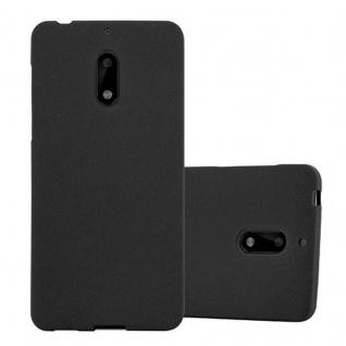 Cadorabo Hülle für Nokia 6 2017 in FROST SCHWARZ - Handyhülle aus flexiblem TPU Silikon - Silikonhülle Schutzhülle Ultra Slim Soft Back Cover Case Bumper