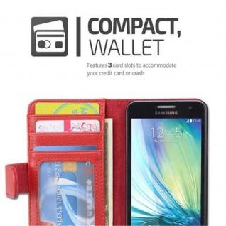 Cadorabo Hülle für Samsung Galaxy A3 2015 in INFERNO ROT ? Handyhülle mit Magnetverschluss und 3 Kartenfächern ? Case Cover Schutzhülle Etui Tasche Book Klapp Style - Vorschau 2