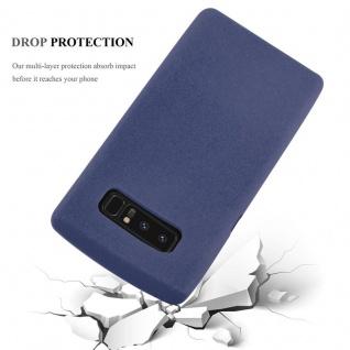 Cadorabo Hülle für Samsung Galaxy NOTE 8 in FROST DUNKEL BLAU - Handyhülle aus flexiblem TPU Silikon - Silikonhülle Schutzhülle Ultra Slim Soft Back Cover Case Bumper - Vorschau 5