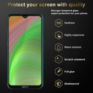 Cadorabo 3x Vollbild Panzer Folie für Nokia 7.2 - Schutzfolie in TRANSPARENT mit SCHWARZ - 3er Pack Gehärtetes (Tempered) Display-Schutzglas in 9H Härte mit 3D Touch - Vorschau 3