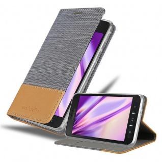 Cadorabo Hülle für Samsung Galaxy XCover 4s in HELL GRAU BRAUN Handyhülle mit Magnetverschluss, Standfunktion und Kartenfach Case Cover Schutzhülle Etui Tasche Book Klapp Style