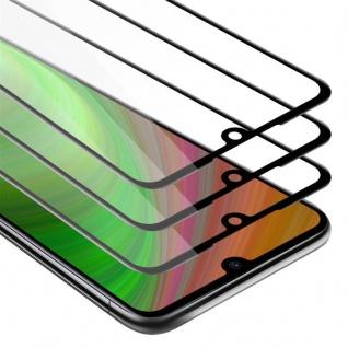 Cadorabo 3x Vollbild Panzer Folie für Xiaomi RedMi NOTE 7 Schutzfolie in TRANSPARENT mit SCHWARZ 3er Pack Gehärtetes (Tempered) Display-Schutzglas in 9H Härte mit 3D Touch