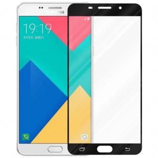 Cadorabo Vollbild Panzer Folie für Samsung Galaxy A9 2015 - Schutzfolie in TRANSPARENT mit SCHWARZ - Gehärtetes (Tempered) Display-Schutzglas in 9H Härte mit 3D Touch Kompatibilität - Vorschau 2