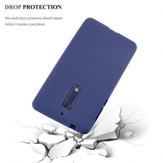 Cadorabo Hülle für Nokia 5 2017 in FROST DUNKEL BLAU - Handyhülle aus flexiblem TPU Silikon - Silikonhülle Schutzhülle Ultra Slim Soft Back Cover Case Bumper - Vorschau 4