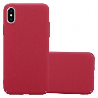 Cadorabo Hülle für Apple iPhone X / XS in FROSTY ROT - Hardcase Handyhülle aus Plastik gegen Kratzer und Stöße - Schutzhülle Bumper Ultra Slim Back Case Hard Cover