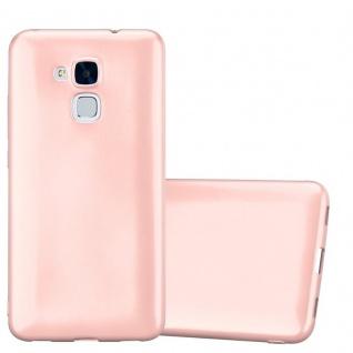 Cadorabo Hülle für Honor 5C in METALLIC ROSÉ GOLD - Handyhülle aus flexiblem TPU Silikon - Silikonhülle Schutzhülle Ultra Slim Soft Back Cover Case Bumper