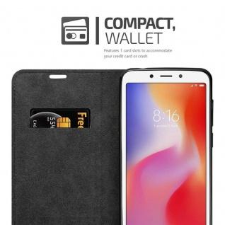 Cadorabo Hülle für Xiaomi RedMi 6 in NACHT SCHWARZ - Handyhülle mit Magnetverschluss, Standfunktion und Kartenfach - Case Cover Schutzhülle Etui Tasche Book Klapp Style - Vorschau 2