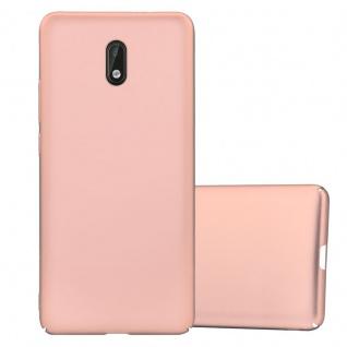 Cadorabo Hülle für Nokia 3 2017 in METALL ROSÉ GOLD ? Hardcase Handyhülle aus Plastik gegen Kratzer und Stöße ? Schutzhülle Bumper Ultra Slim Back Case Hard Cover