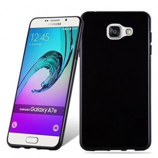 Cadorabo Hülle für Samsung Galaxy A7 2016 in SCHWARZ - Handyhülle aus flexiblem TPU Silikon - Silikonhülle Schutzhülle Ultra Slim Soft Back Cover Case Bumper