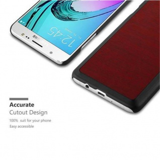 Cadorabo Hülle für Samsung Galaxy J5 2016 in WOODY ROT - Hardcase Handyhülle aus Plastik gegen Kratzer und Stöße - Schutzhülle Bumper Ultra Slim Back Case Hard Cover - Vorschau 3