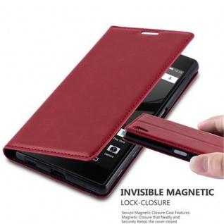 Cadorabo Hülle für Sony Xperia Z5 in APFEL ROT - Handyhülle mit Magnetverschluss, Standfunktion und Kartenfach - Case Cover Schutzhülle Etui Tasche Book Klapp Style