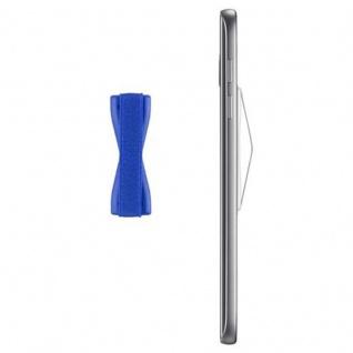 Cadorabo - Finger-Halterung Sling Grip für Smartphone / Tablet / iPod / eReader Griff Henkel Sling Schlaufe Riemen in BLAU - Vorschau 4