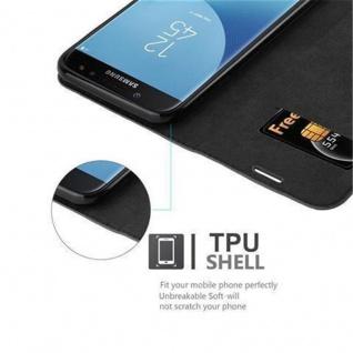 Cadorabo Hülle für Samsung Galaxy J7 2017 in NACHT SCHWARZ - Handyhülle mit Magnetverschluss, Standfunktion und Kartenfach - Case Cover Schutzhülle Etui Tasche Book Klapp Style - Vorschau 3