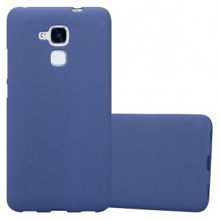 Cadorabo Hülle für Honor 5C in FROST DUNKEL BLAU - Handyhülle aus flexiblem TPU Silikon - Silikonhülle Schutzhülle Ultra Slim Soft Back Cover Case Bumper