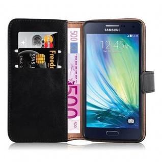 Cadorabo Hülle für Samsung Galaxy A5 2015 in GRAPHIT SCHWARZ - Handyhülle mit Magnetverschluss, Standfunktion und Kartenfach - Case Cover Schutzhülle Etui Tasche Book Klapp Style - Vorschau 5
