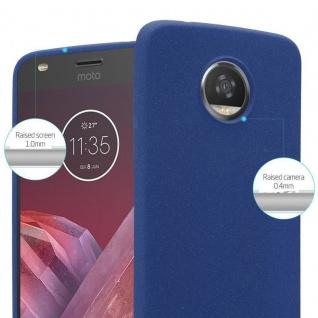 Cadorabo Hülle für Motorola MOTO Z2 PLAY in FROST DUNKEL BLAU - Handyhülle aus flexiblem TPU Silikon - Silikonhülle Schutzhülle Ultra Slim Soft Back Cover Case Bumper - Vorschau 5