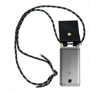 Cadorabo Handy Kette für OnePlus 3 / 3T in CAMOUFLAGE - Silikon Necklace Umhänge Hülle mit Gold Ringen, Kordel Band Schnur und abnehmbarem Etui ? Schutzhülle