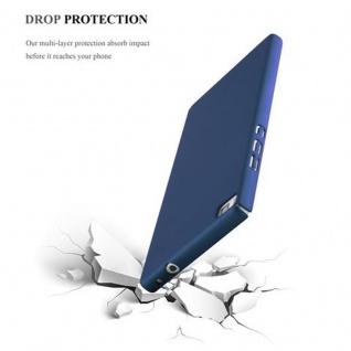 Cadorabo Hülle für Huawei P8 in METALL BLAU - Hardcase Handyhülle aus Plastik gegen Kratzer und Stöße - Schutzhülle Bumper Ultra Slim Back Case Hard Cover - Vorschau 5