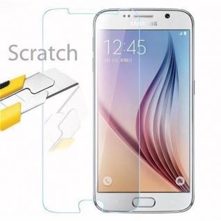 Cadorabo Panzer Folie für Samsung Galaxy S6 - Schutzfolie in KRISTALL KLAR - Gehärtetes (Tempered) Display-Schutzglas in 9H Härte mit 3D Touch Kompatibilität - Vorschau 2
