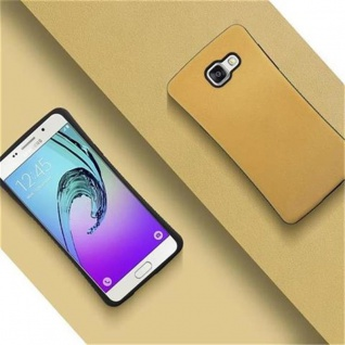 Cadorabo Hülle für Samsung Galaxy A5 2016 (6) - Hülle in GOLD BRAUN - Small Waist Handyhülle mit rutschfestem Gummi-Rücken - Hard Case TPU Silikon Schutzhülle - Vorschau 2
